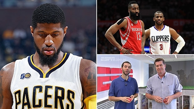 Futuro de Paul George e análise dos Rockets com Chris Paul e James Harden no 'NBA Countdown Brasil'