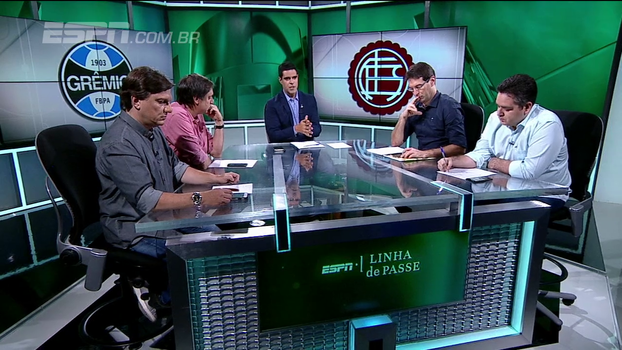 Jael sofreu pênalti? Arbitragem de Grêmio x Lanús é tema de debate no 'Linha de Passe'