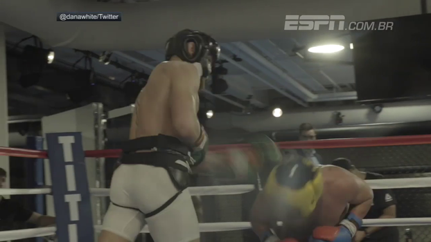Dana White divulga vídeo de McGregor derrubando Malignaggi em treino
