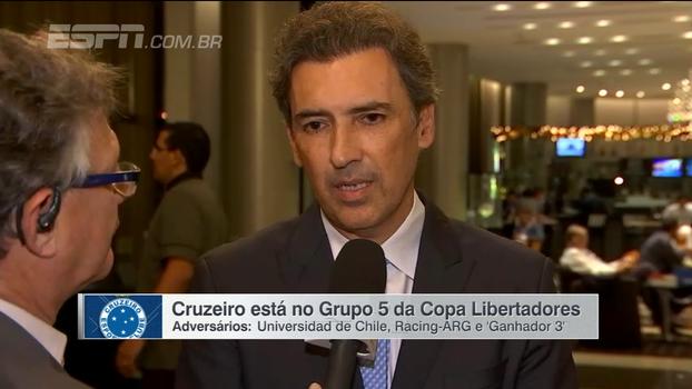 Marcelo Djian analisa rivais do Cruzeiro na Libertadores: 'Não é um grupo fácil'