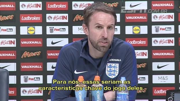 Southgate, técnico da Inglaterra, pede respeito com Lituânia: 'Bom no contra-ataque'