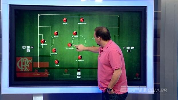 Quem sai para a entrada de Diego? Alê Oliveira escala o Flamengo ideal