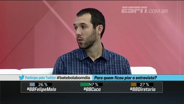 Hofman diz que Palmeiras falhou no caso Felipe Melo: 'Essa reintegração acontece por um erro da diretoria'