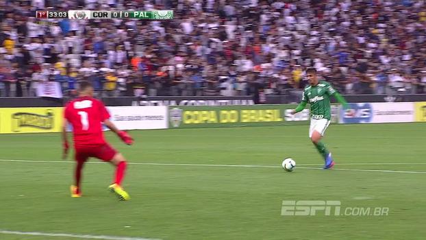 Tempo real: Palmeiras sai em bom contra-ataque, Guilherme Ferraz fica cara a cara, mas o goleiro Maltos salva