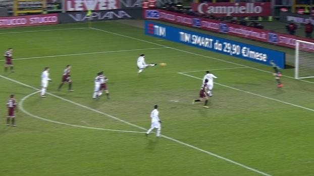 Tempo real: Romagnoli desvia cruzamento e Hart defende sem dificuldades