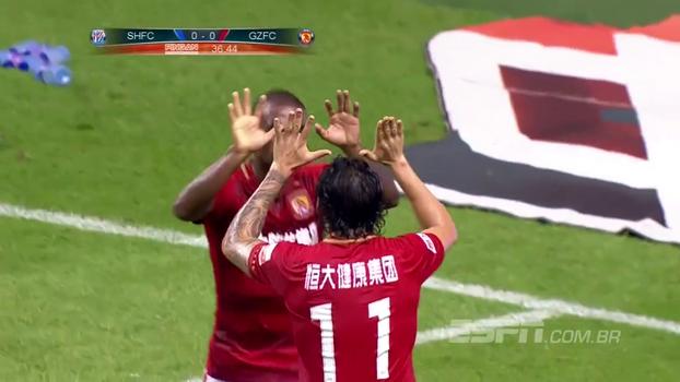 Campeonato Chinês: gols de Shanghai Shenhua 0 x 3 Guangzhou Evergrande