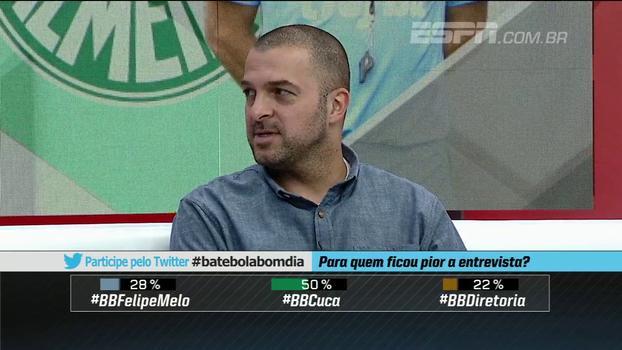 Zé Elias critica diretoria do Palmeiras no caso Felipe Melo: 'Eles não vão reaver o investimento feito'