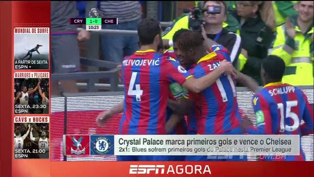 Primeiros gols do Crystal Palace na temporada são no campeão Chelsea; João Castelo Branco analisa a partida