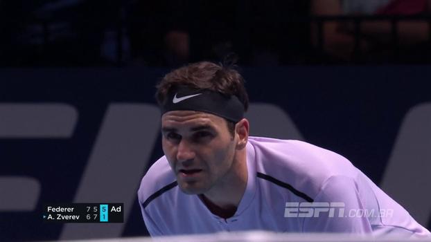 Confira lances de Roger Federer 2 x 1 Alexander Zverev