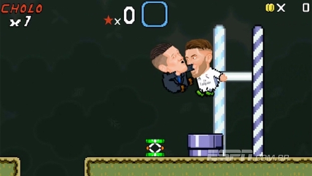Diego Simeone tenta retranca no 'Super Mario World', mas se dá mal com Sérgio Ramos