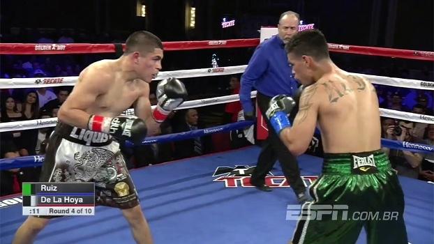 Primo de Oscar de la Hoya vence Erik Ruiz por decisão unânime e segue invicto no boxe; assista