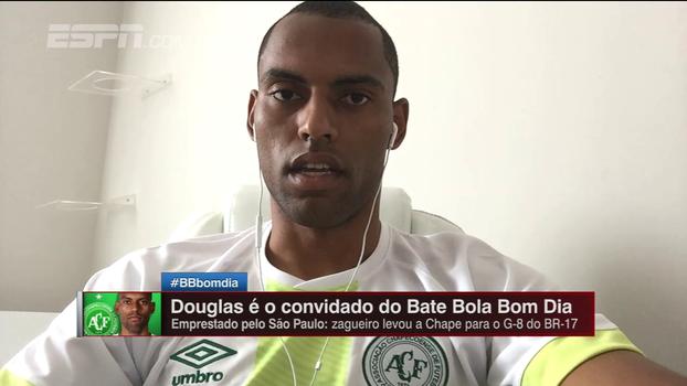 Douglas recorda que objetivo era permanência e celebra Libertadores: 'Trazer um pouco de alegria para o povo de Chapecó'