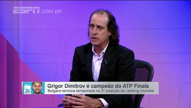 Meligeni analisa título de Dimitrov, elogia búlgaro, mas ainda o vê com distância para o Top 4