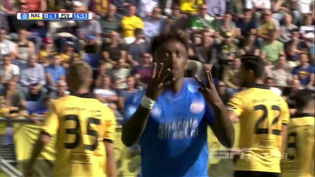 Em partida movimentada, PSV visita o NAC Breda e goleia por 4 a 1; veja os gols