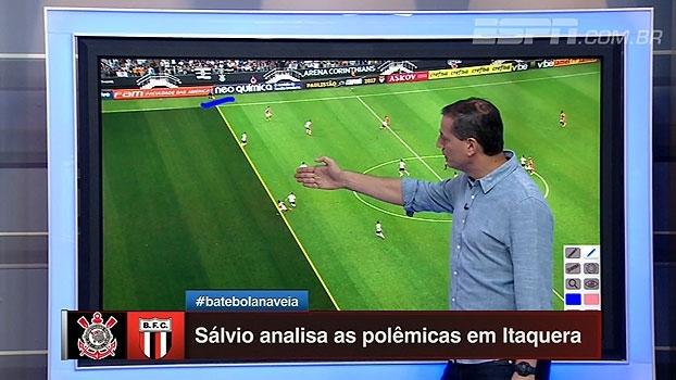 Pênaltis para o Corinthians? Impedimento do Botafogo? Sálvio analisa polêmicas em Itaquera