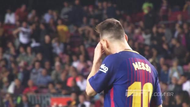 O poder está na barba? Veja 'tique nervoso' de Messi durante os jogos