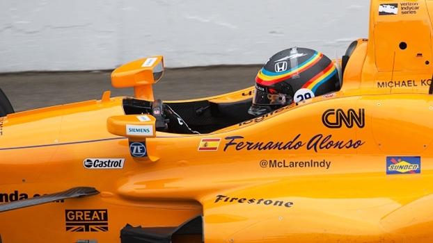 Veja as primeiras voltas de Fernando Alonso no circuito de Indianapolis