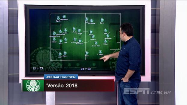 Com inúmeras possibilidades, Bertozzi monta o Palmeiras 'versão 2018'; veja como ficou