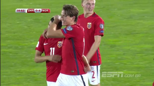 Sem nenhum ponto e com saldo de -44, San Marino recebe a Noruega e perde por 8 a 0; VEJA os gols