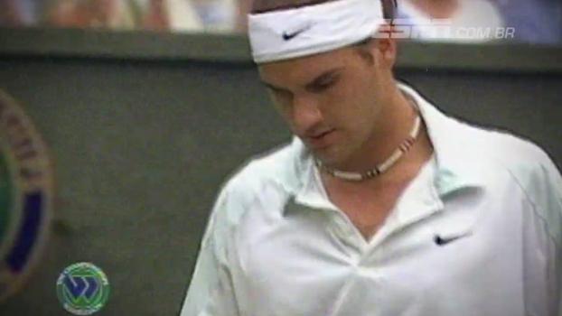 Em 2001, Roger Federer desbancava o então 'rei de Wimbledon' Pete Sampras