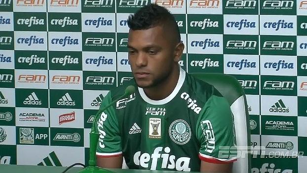 Apresentado, Borja fala sobre vestir a camisa 12 do Palmeiras: 'Sou um sortudo'