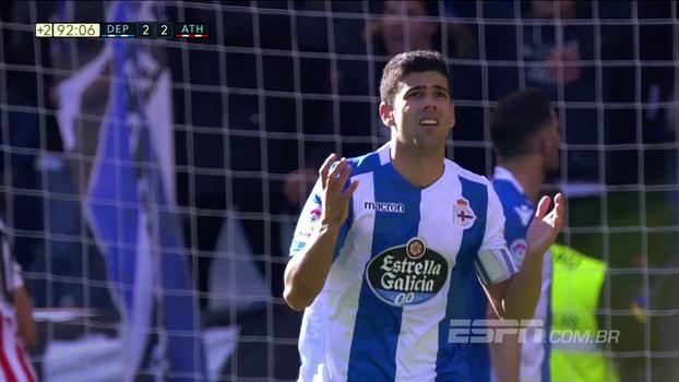 Bilbao fica na frente duas vezes, mas La Coruña busca empate em casa