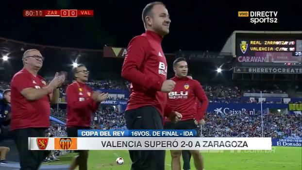 Na Copa do Rei, Valencia vence Zaragoza fora de casa e encaminha vaga