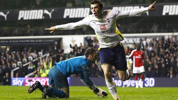 Gomes e Bale brilharam, e Tottenham venceu Arsenal no clássico de Londres de 2010; relembre