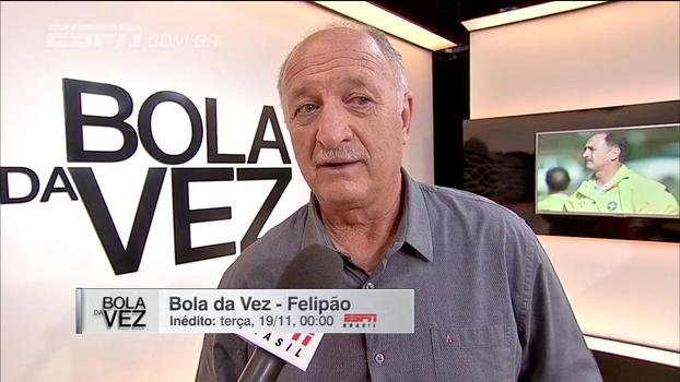 Sem assunto proibido! Confira os bastidores da gravação do 'Bola da Vez' com Felipão