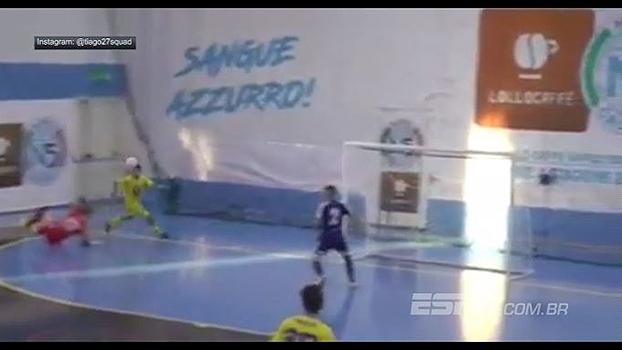 'Messi' do futsal italiano, português faz golaço inacreditável na Itália