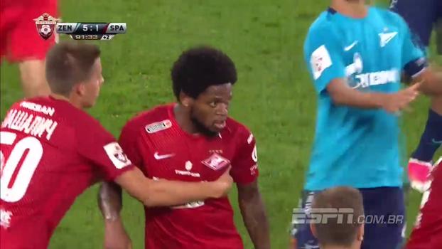 Com expulsão de Luiz Adriano e Giuliano no banco, Zenit atropela Spartak e vira líder na Rússia