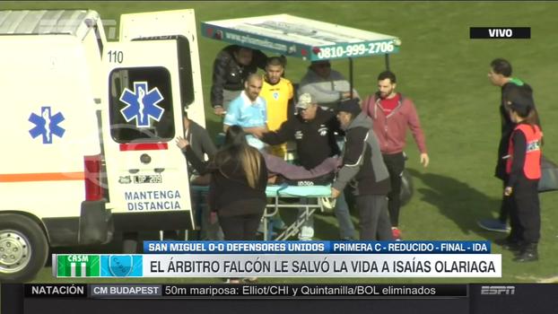 Árbitro presta primeiros socorros e salva vida de jogador após forte choque de cabeça na 4ª divisão argentina