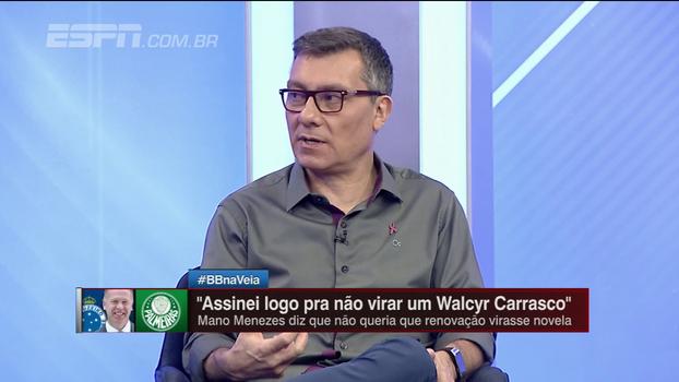 Calçade analisa renovação de Mano Menezes com o Cruzeiro: 'Preferiu ficar com o trabalho iniciado'