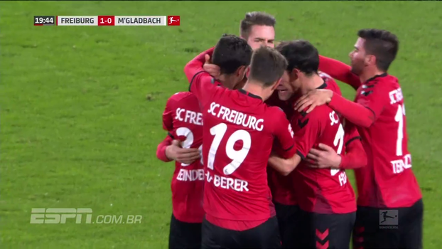 Com gol de pênalti, Freiburg vence M'Gladbach e sai da zona de rebaixamento