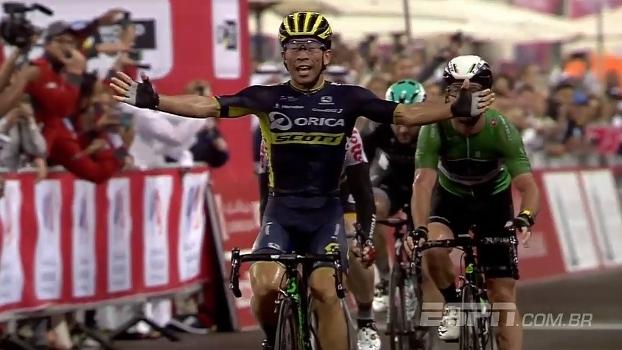 Caleb Ewan ganha a quarta etapa, mas Rui Costa é o novo vencedor do Abu Dhabi Tour