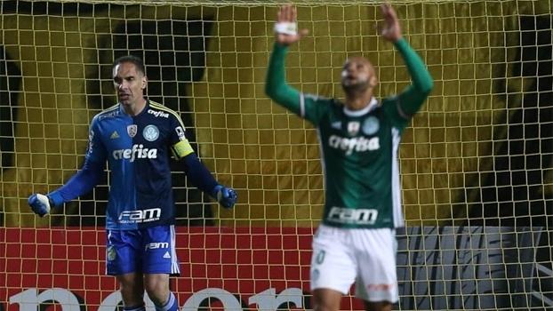 Palmeiras faz vídeo para mostrar que comemoração de Felipe Melo não foi provocação ao Peñarol