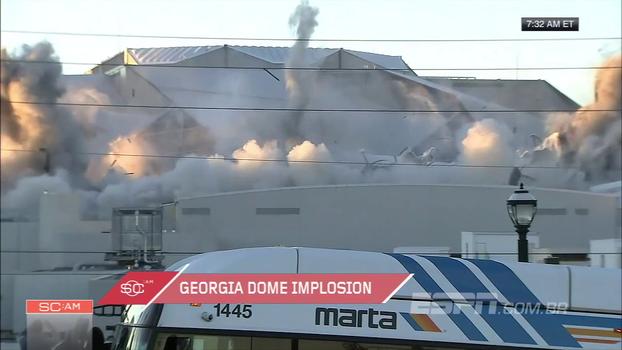 Veja imagens da implosão do que foi a casa do Atlanta Falcons por 25 anos