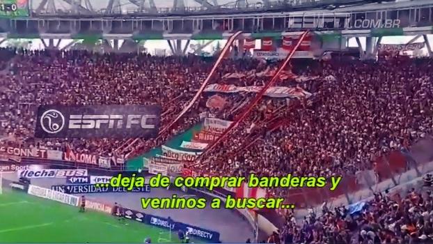 Torcida do Estudiantes faz linda festa durante jogo contra o Arsenal de Sarandí