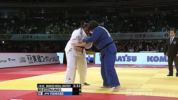 No Grand Slam de Tóquio, Rochele Nunes perde disputa de bronze para Yamabe e fica em 5º lugar