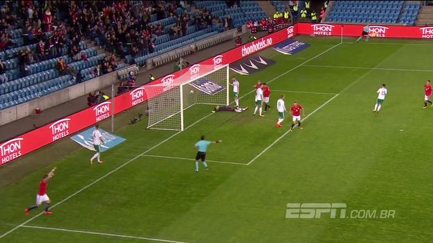 Com gol contra, Noruega encerra eliminatórias com vitória sobre a Irlanda do Norte