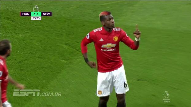 Tempo real: GOL DO UNITED! Belga jogada do time resulta em gol de Pogba