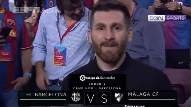 Impostor! 'Falso' Messi marca presença no Camp Nou na vitória do Barcelona sobre o Malaga