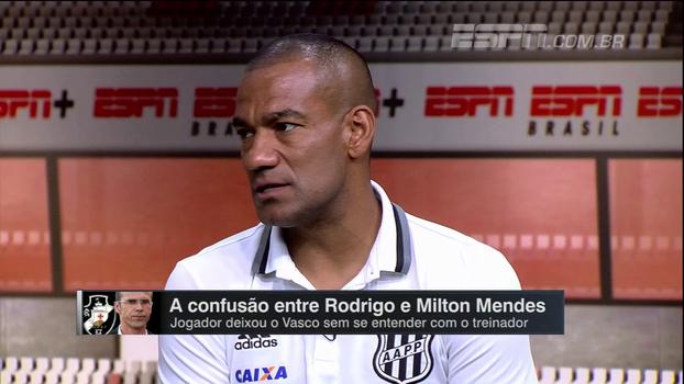 No 'Resenha ESPN', Rodrigo explica desentendimento com Milton Mendes: 'Eu não gosto dele'
