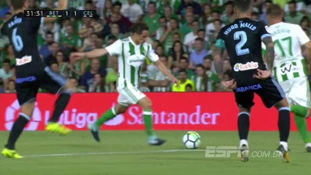 Assista aos gols da vitória do Real Bétis sobre o Celta de Vigo por 2 a 1!