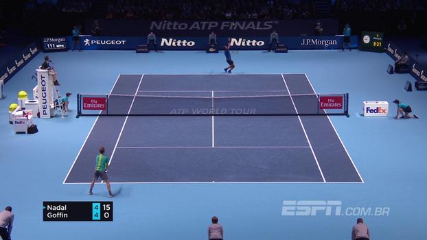 Em jogo muito equilibrado, Goffin supera Nadal e ofusca estreia do espanhol no ATP Finals