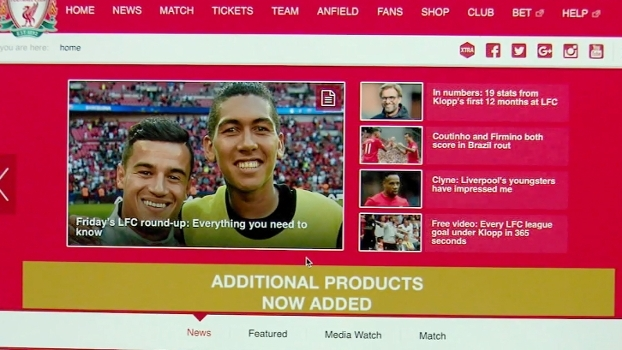 Na Inglaterra, eliminatórias são destaque nos sites dos clubes