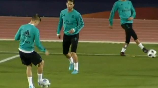 Real Madrid faz atividade leve nos Emirados Árabes; Sergio Ramos sente dores