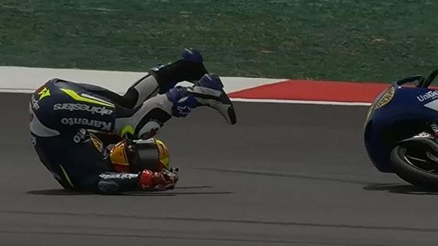 Festival de quedas na Moto3 manda 5 pilotos para o hospital; veja