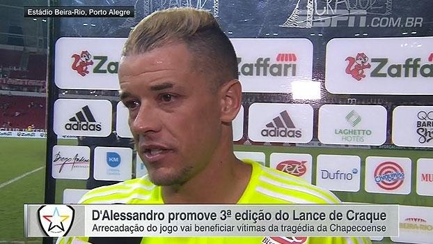 D'Alessandro comemora sucesso do Lance de Craque e recuperação de Alan Ruschel