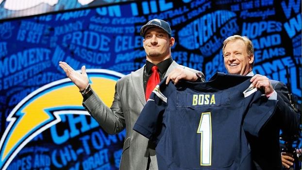 Draft NFL 2016: Joey Bosa é draftado pelos Chargers no 3º pick